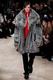 brioni burberry grey mens fur coat