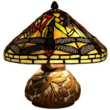 10 h stained glass mini dragonfly table lamp w mosaic base com