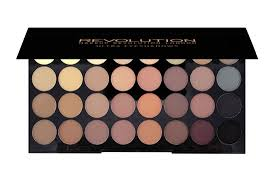 makeup revolution ultra 32 eyeshadow palette flawless matte review