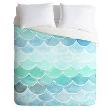 wonder forest mermaid scales duvet cover
