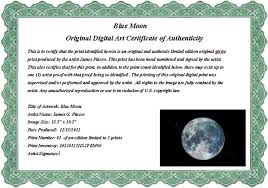 samples of certificates sample art certificate of authenticity