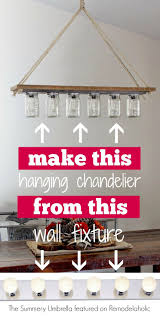 diy chandelier from hollywoodstyle vanity light the summery umbrella on remodelaholic pendantlight upcycle o72