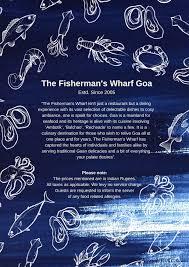 Blue Light Star Marine Services Pvt Ltd The Fishermans Wharf Menu Menu For The Fishermans Wharf