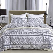 modern bedding set microfiber fabric queen king size soft breathable duvet cover geometric printing bedclothes bed sets bedding sheets duvet cover from