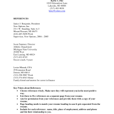 How To Write A Resume Reference Page Photo Tomyumtumweb Com