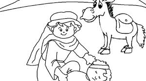 Good Samaritan Bible Coloring Pages Story The Parable Of Sheet Free