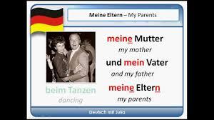german for beginners my family mein dein sein die familie german for beginners my family mein dein sein die familie practice your german
