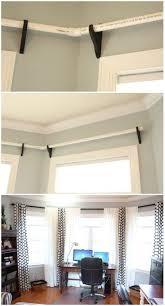 best 25 bay window curtain rod ideas on bay window cost curtains for bay windows and diy house ideas