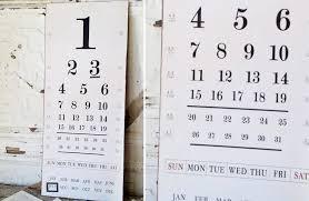 Vintage Eye Chart Calendar Rustic Warehouse