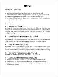 Resume For Production Operator Sample Resume For Heavy Machine