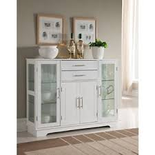 buffet with glass doors. Image Is Loading Kitchen-Buffet-Cabinet-With-Glass-Doors-China-Display- Buffet With Glass Doors A