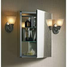 Medicine Cabinet With Light Kohler 15 W X 26 H Aluminum Single Door Medicine Cabinet