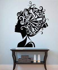 Small Picture Hairstyle Wall Vinyl Decal Hairdo Wall Vinyl Sticker Home Decor