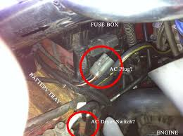 purpose of plug right under the fuse box is it ac pics purpose of plug right under the fuse box is it ac pics