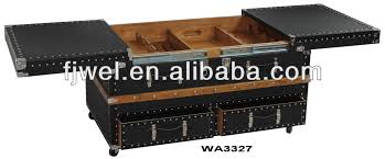 bar trunk furniture. black leather trunk coffee table bar furniture