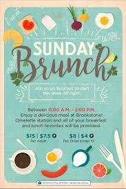 Example Of Flyers Sunday Brunch Event Flyer Poster Template Brunch Pinterest