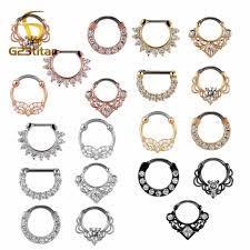 Compre G23titan 16g Nariz Piercing Anillo Indian Septum Clicker