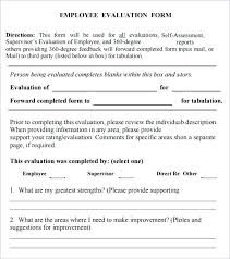 Printable Self Evaluation Examples Staff Performance Appraisal ...
