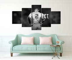new york yankees canvas painting wall art 5 pieces prints home decor picture panels poster for on yankees canvas wall art with new york yankees canvas painting wall art 5 pieces prints home decor