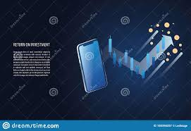 Return On Investment Roi Graph And Chart Increase With Forex