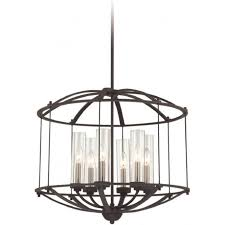 troy black cage style hanging ceiling pendant light