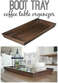 Table d'hôte is cheaper than table à la carte. Diy Boot Tray To Coffee Table Organizer Liz Marie Blog Coffee Table Organization Decor Home Decor