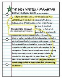 best paragraphs to essays images argument essay student guide body paragraph topic sentence example
