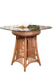 havana round counter table base antique honey finish