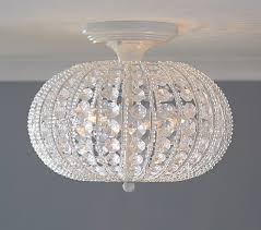 clear acrylic round flushmount chandelier pottery barn kids flush mount chandeliers
