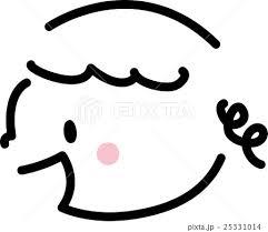 子供 笑顔 横顔 女の子 シンプルイラストのイラスト素材 25331014 Pixta