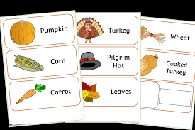 Free Thanksgiving Word Cards Printable Early Years Ey Eyfs