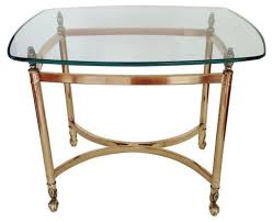 brass end table glass top house design