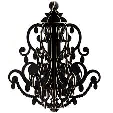 chic black chandelier drum tab