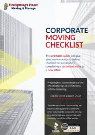 Corporate Moving Checklist Printable Firefightings Finest