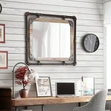 wall mirrors for living room. Interesting Wall Furniture Of America Revo Industrial Antique Black Framed Wall Mirror And Mirrors For Living Room V
