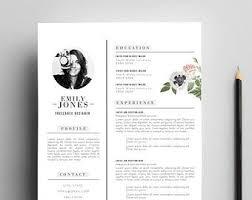 Resume Modern E Business Infographic Popular Items For Cv Moderne On Etsy