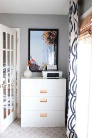 Bookshelf Filing Cabinet Office Makeover Reveal Ikea Hack Built In Billy Bookcases