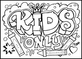 Free Printable Coloring Pages For Teens Teenagers Graffiti Download