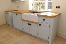 kitchen sink cabinet. White Kitchen Sink Cabinet With Wood Counters I
