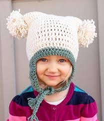 Free Crochet Hat Patterns For Toddlers Mesmerizing Free Beginner Crochet Beanie Hat Pattern Pom Pom Party