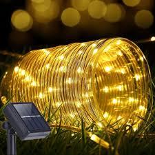 Solar Rope Lights For Garden Solar Rope Lights Outdoor 12m M 100led 70 Led Rope Lighting