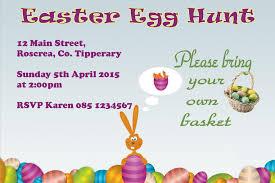 Personalised Easter Egg Hunt Invitations