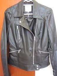 las zara trafaluc black faux leather jacket