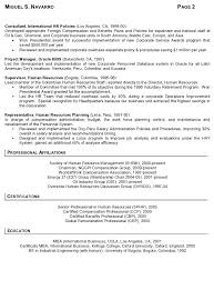 Resume Sample - International Human Resources Executive Page 2