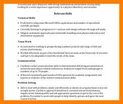 8 9 Resume Relevant Skills Examples Maizchicago Com