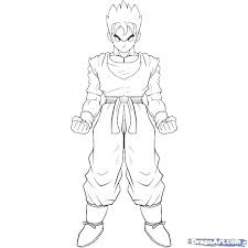 Printable Dragon Ball Z Coloring Pages Coloring Page Free Printable