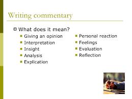 Essay Format Concrete Detail Commentary Topic Sentences