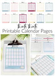 2019 coloring pages printable calendars: 2020 Printable Calendar Pages Free Gluesticks Blog