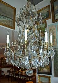 20th century rococo style swedish crystal chandelier with 16 lights circa 1910 for