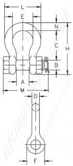 Crosby G2130 G2130oc Bolt Type Bow Lifting Shackles